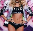 NWT Victorias Secret XS, S, L Pink Fashion Show Silver Metallic Jacket Hoodie