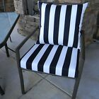 """20""""x20"""" Cushion Pillow Set for Outdoor Patio Dining Chair, Choose Solid / Stripe"""