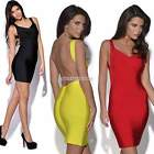 Women Sexy Dress Strap Backless Sleeveless Party Evening Bodycon Clubwear N98B