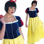 Ladies Snow White Fancy Dress Costume - Long Fairytale Film / Book Week Outfit
