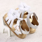 0-18 Months Baby Toddler Boy Girl Flower Crib Shoes Sandals Toddler White #FK12