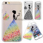 """Butterfly Bride Design Thin Clear Hard Back Case Cover For iPhone 5 5S 6 4.7"""""""