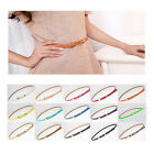 Chic Womens Candy Color Rectangle Cross Buckle Waistband Thin Skinny Belt Girdle