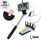 Extendable Selfie Stick Wired Phone Holder Remote Shutter Monopod For Cellphone