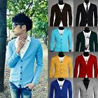 Men fashion Long Sleeves Knitwear Slim Fit V-neck Cardigan Sweater 4 size HOT