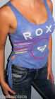 New ROXY Blue Purple COLORFUL  LOGO Top SIDE TIE Slub Knit Shirt CHOOSE S M L XL
