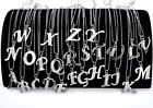 New A-Z Initial Letter Name Pendants Necklace Silver Plated & Crystal W Chain