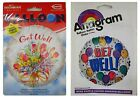 "GET WELL Foil Balloons (45cm/18"") (Helium)(Gift/Flowers/Balloons)"