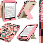 Floral Butterfly Design PU Leather Case for Amazon Kindle Paperwhite Folio Cover