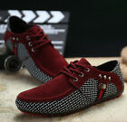 New Men's Casual Breathable Suede Lace Up Loafers Driving Moccasins Shoes T393
