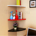 Corner Wall Mounted Floating Shelves Wooden Book Shelf Storage Display Unit Home