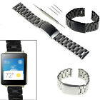 22mm Stainless Steel Solid  Metal Watch Band for LG G watch R W110 W100+Tools US image