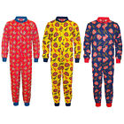 Arsenal FC Official Football Gift Boys Kids Pyjama Onesie (RRP £14.99)