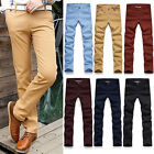 HOT SALE ! Mens Casual Slim Fit Straight-Leg Pencil Pants Casual Formal Trousers