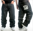 Mens Jeans Sean John Baggy Loose Denim Hip-Hop Rap Skateboard Pants Streetwear