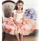 Girls Pearl Flower Pageant Party Wedding Bridesmaid Christening Dress  Age 2-9Y