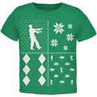 Zombies Festive Blocks Ugly Christmas Sweater Green Toddler T-Shirt