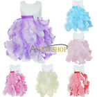 Girls Kids Fancy Princess Dress Toddler Baby Wedding Party Pageant Dresses 3-10Y