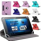 Universal 360 Rotating PU Leather Case Cover Stand For 7 8 9 10 10.1 Tablet