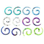 "2x 12g-1/2"" Colorful Acrylic Snail Spiral Horn Taper Ear Plug Expander Earring"