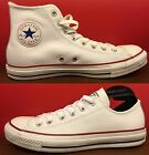 New Converse Chuck Taylor All Star White Leather HI LOW Shoes 132169C 132173C