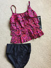 ADORABLE MIRACLESUIT RED GEOMETRICI TANKINI SWIMSUIT 8 10 12 14 16