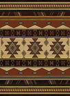 Brown Ivory Lodge Carpet Diamond Geometric Chevrons Triangles Area Rug