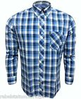 BEN SHERMAN Men's Long Sleeved B/D Check Shirt MA00621 Blue/White Size: XL-XXXL