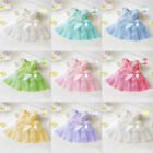 Cute Baby Girls Toddler Lace Princess Bow Flower Tutu Dresses Party Bridesmaid