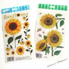 Sunflowers: E-Z Rub-On Transfers Sheet (Decals) ~ New