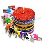 Внешний вид - LOT Flat Braided Micro USB Charger Cable Cord Sync For Android Cell Phone Lot