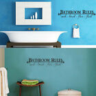 Room Art DIY Wall Sticker Mural Home Decal Decor For Bathroom Removable