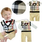 Baby Boy Wedding Christening Formal Dressy Party Tuxedo Suits Outfit Dress 3-24M