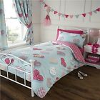 Girls Peggy Love Hearts & Polka Dots Duvet Cover Bedding Set Single Double