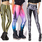 Women's Pattern Printed Bodcon Stretch Footless Leggings Pants New