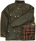 Mens Wax Quilted British Made Biker Jacket Coat Brown RRP £150.00  NTP1