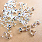 20PCS DIY 925 Sliver Plated Pendant Jewelry Accessories Ear Clip Connection Bail