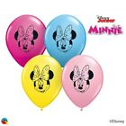 "8 x Minnie Mouse 6"" Small Heart Latex Balloons FACES (Party/Birthday)(Qualatex)"