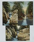 3 1910 era  Clarendon Vermont Gorge Beautiful Coloring on these postcards