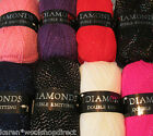 100g BALLS WOOLCRAFT DIAMONDS ACRYLIC DK SPARKLY KNITTING YARN