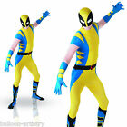 Adults Mens Marvel Wolverine 2nd Skin Lycra Suit Fancy Dress Stag Party Costume
