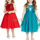 New Flower Girls Kid's Bridsmaids Formal Party Wedding Princess Sequins Dress