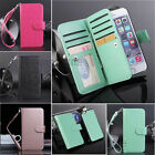 PU Leather Credit Card Holder Slot Wallet Flip Case Cover for iPhone 7 6 6S Plus