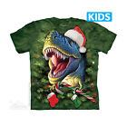 The Mountain T-Shirt Xmas T-Rex Christmas T-Rex Dinosaur Children's Youth Size