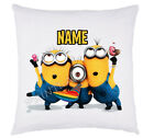 New Luxury Cushion Cover For Minion Perfect Gift Present Can Be Personalised