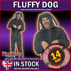 """FANCY DRESS COSTUME # ADULT ALL IN ONE FLUFFY DOG COSTUME 38""""-44"""""""