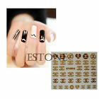 Hot New Fashion 3D Nail Art Zip Bear Stickers Nail Stick Manicure Water Decal