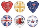 "BRITISH Foil Balloons (45cm/18"") Union Jack/Olympics/Sports/Pride/Jubilee/Party"