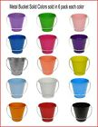 Metal Bucket, 6 pack Metal Bucket Solid Colors 5.6 x 6