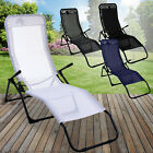 Rocker Lounger Sun Chair Recliner Outdoor Garden Furniture Folding Relaxing Seat
